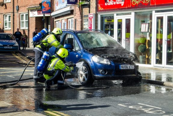 Autonufall im Vereinigten Königreich / England