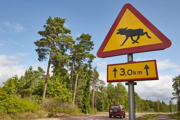 Autounfall in Schweden