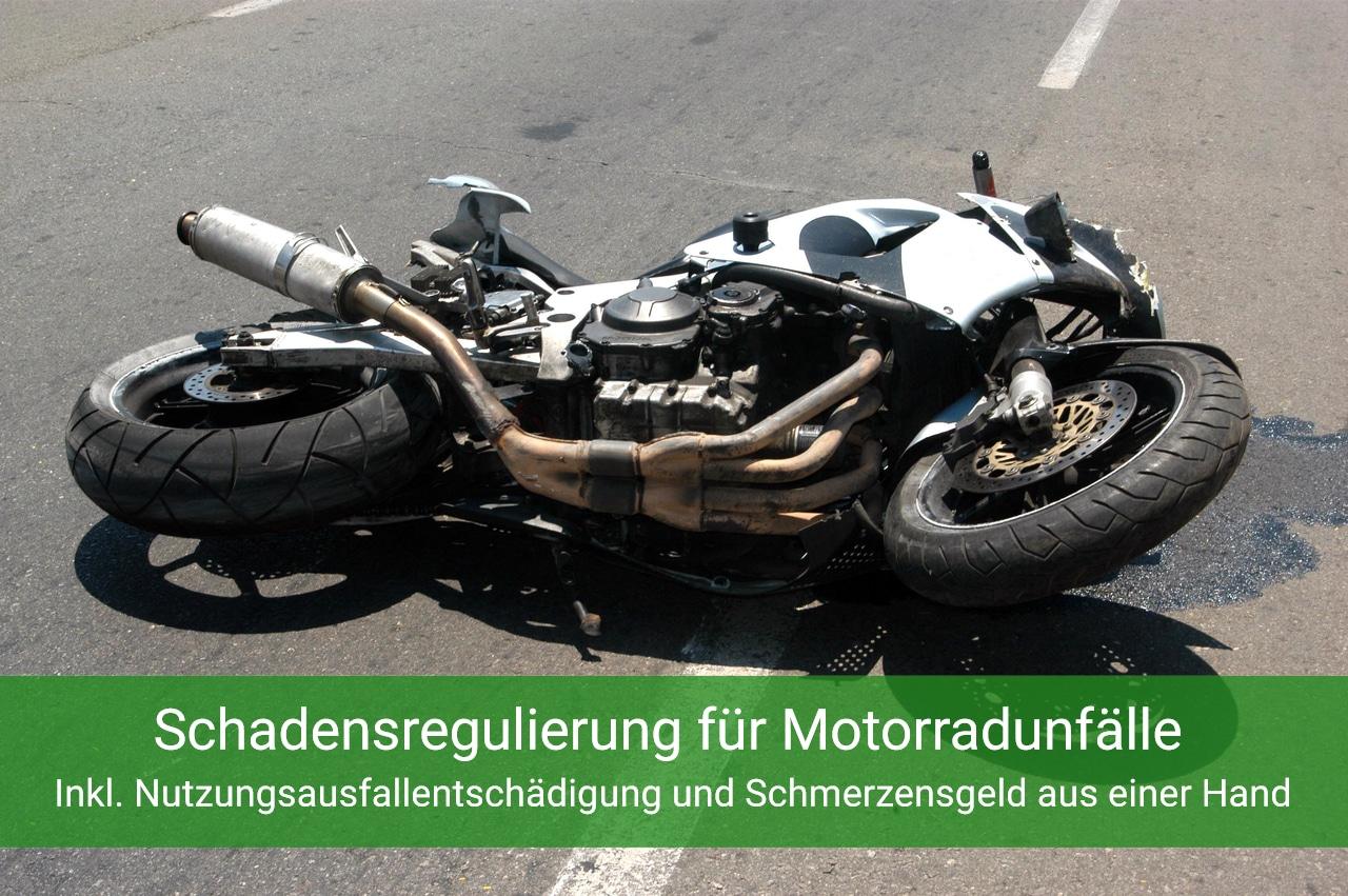 Motorradunfall - Schadensregulierung vom Anwalt
